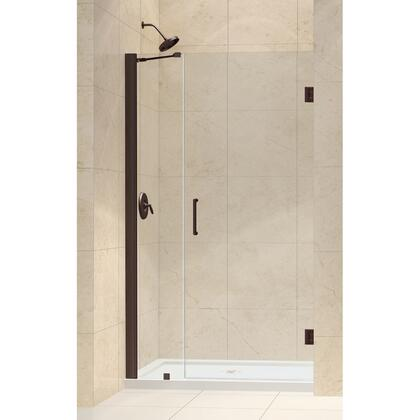 SHDR-20397210-06 Unidoor 39-40 In. W X 72 In. H Frameless Hinged Shower Door With Support Arm In Oil Rubbed