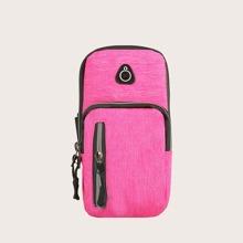 Contrast Trim Sports Arm Bag