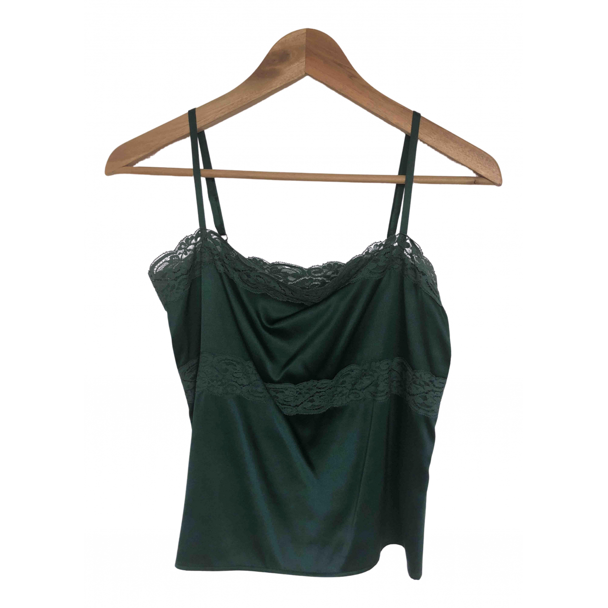 Theory N Green Silk  top for Women XS International
