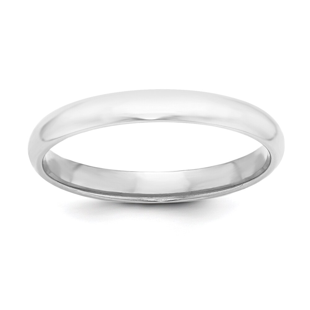 Sterling Silver Polished 3mm Half-Round Standard Fit Band by Versil - White (12.5)