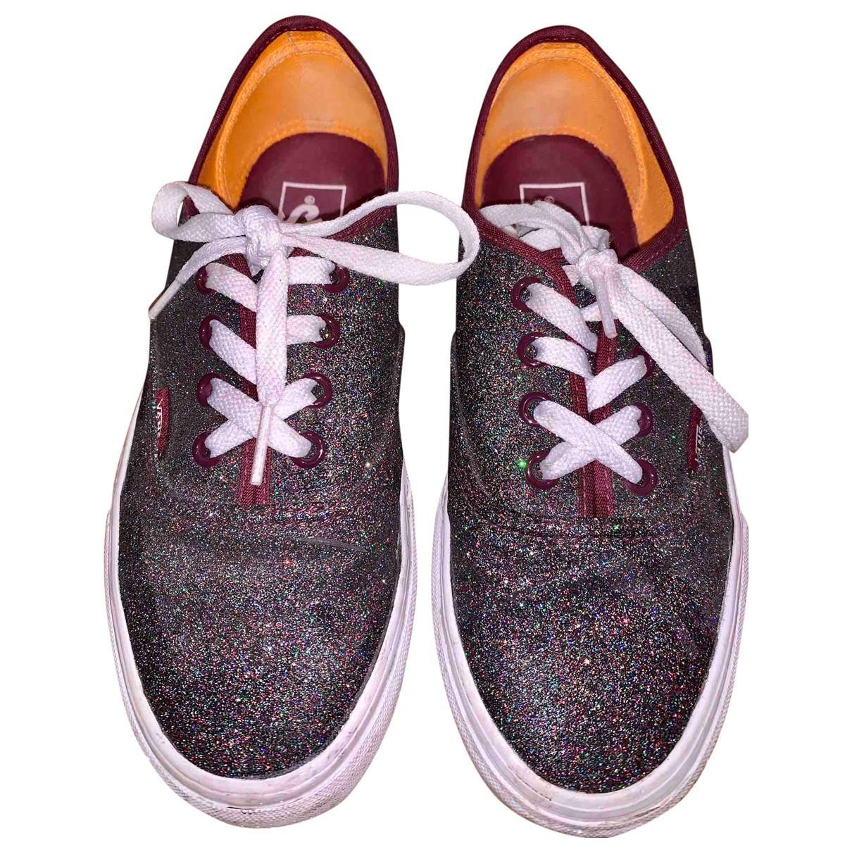 Vans \N Sneakers in  Metallic Leinen