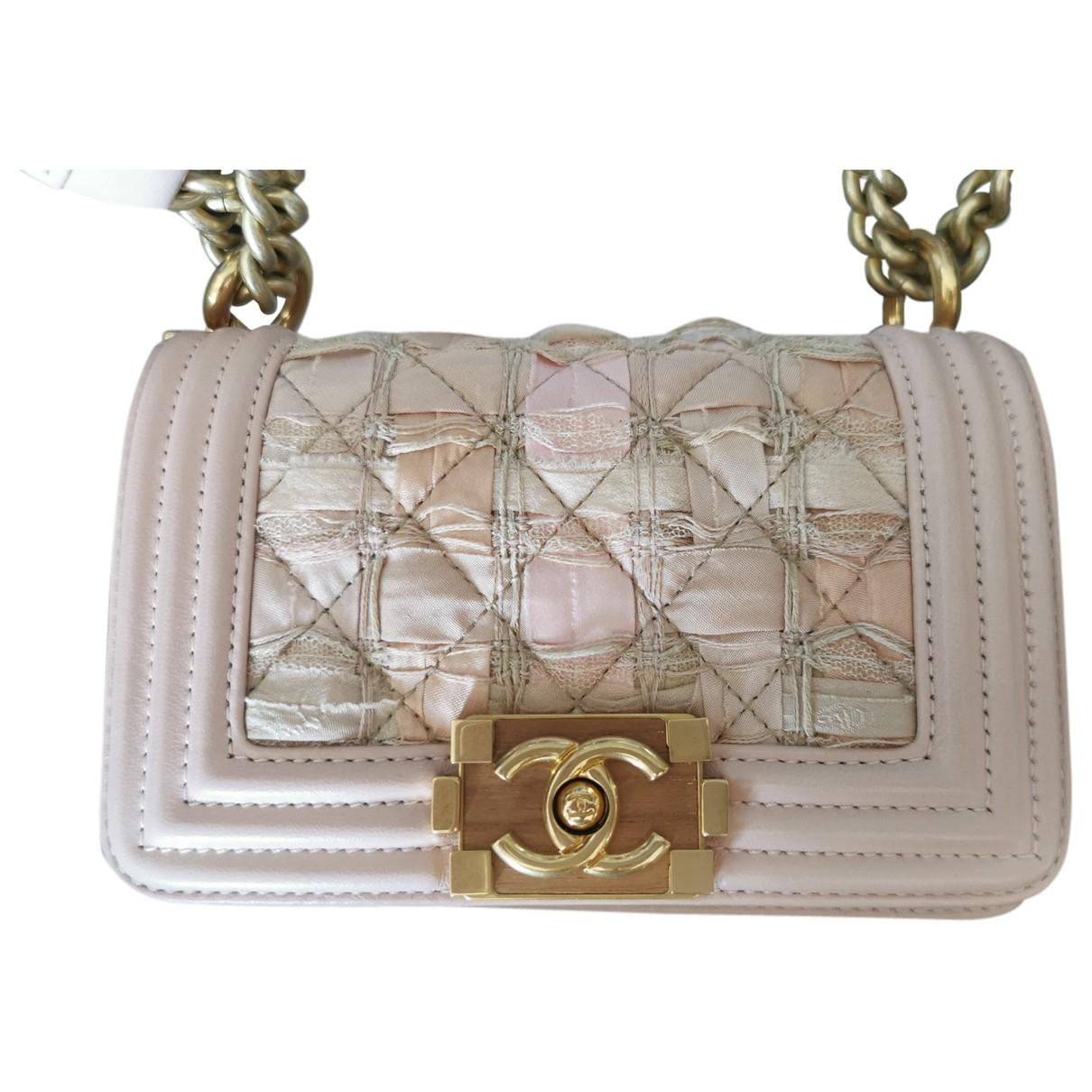 Chanel Boy Pink Cloth handbag for Women N