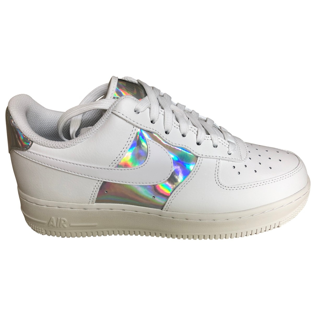 Nike Air Force 1 White Leather Trainers for Women 40 EU
