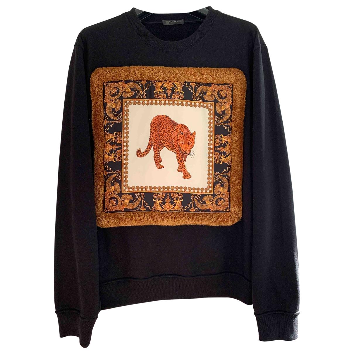 Versace \N Pullover.Westen.Sweatshirts  in  Schwarz Baumwolle