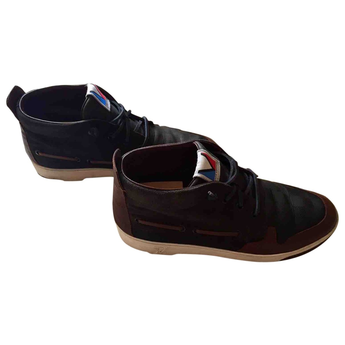 Louis Vuitton \N Navy Leather Trainers for Men 41 IT