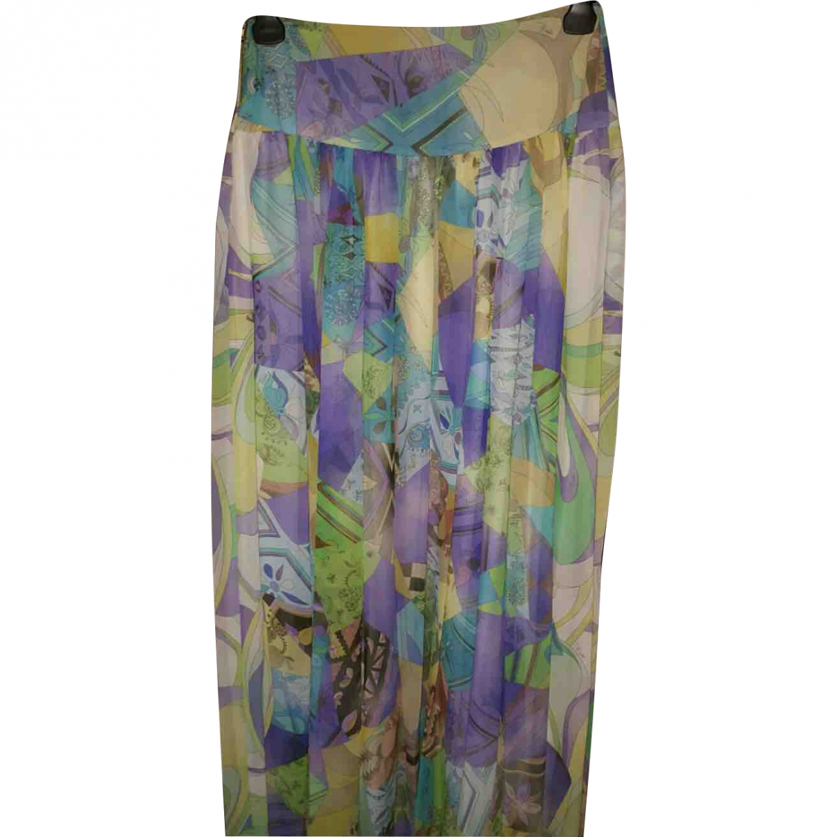 Emilio Pucci \N Yellow Silk skirt for Women 42 IT