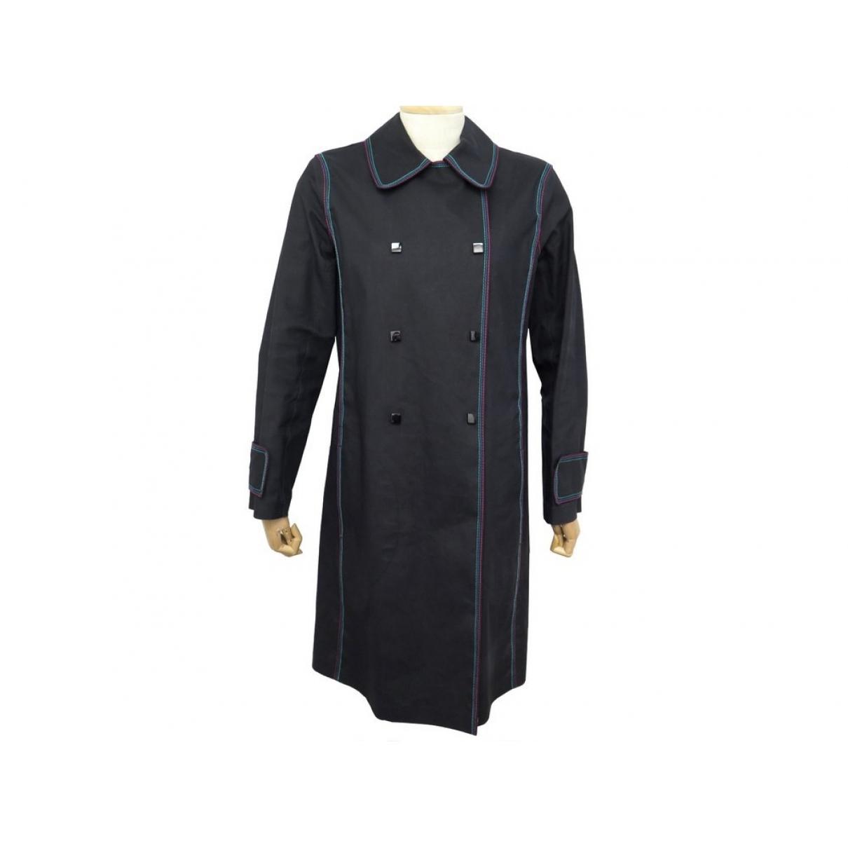 Louis Vuitton - Manteau   pour femme en coton - noir