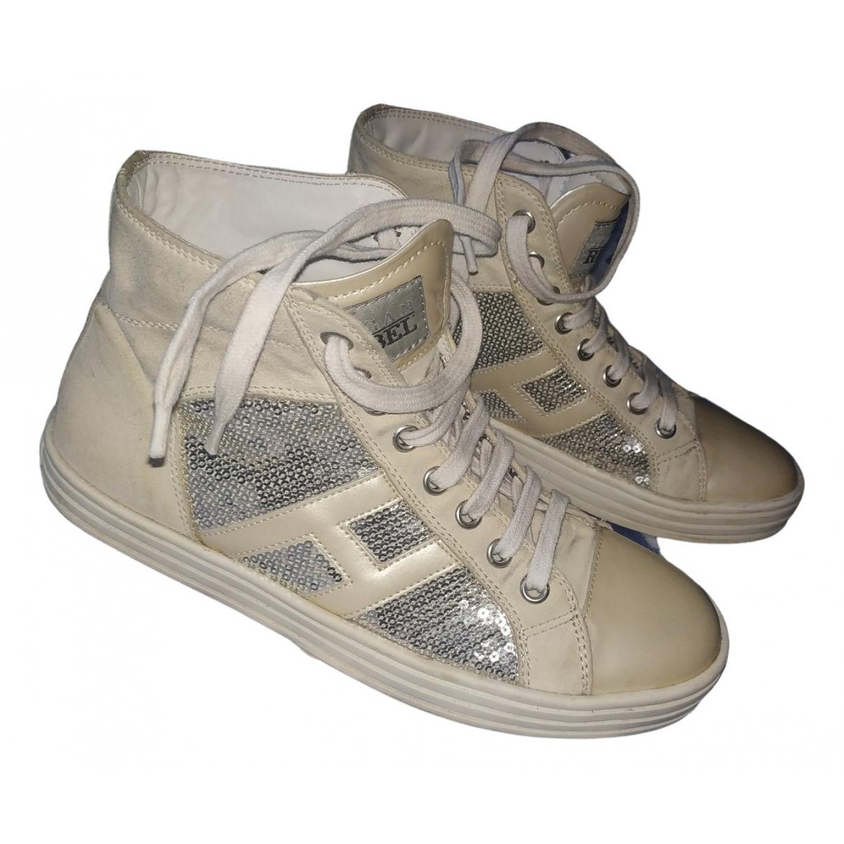 Hogan \N Sneakers in  Beige Mit Pailletten