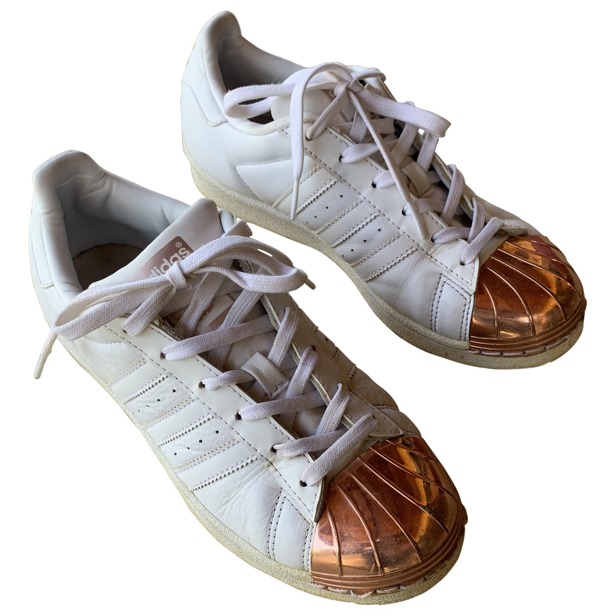 Adidas Superstar White Leather Trainers for Women 38.5 EU