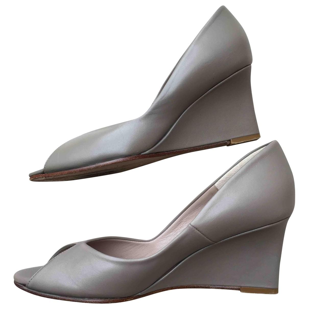 Avril Gau - Sandales   pour femme en cuir - gris