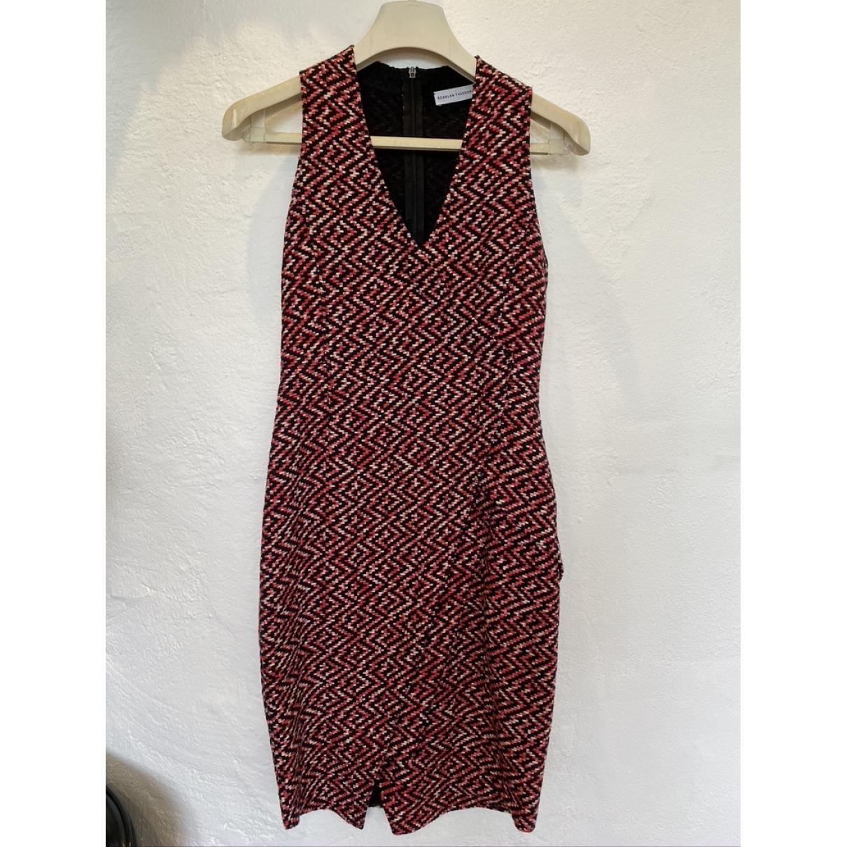 Scanlan & Theodore \N Kleid in  Rot Viskose