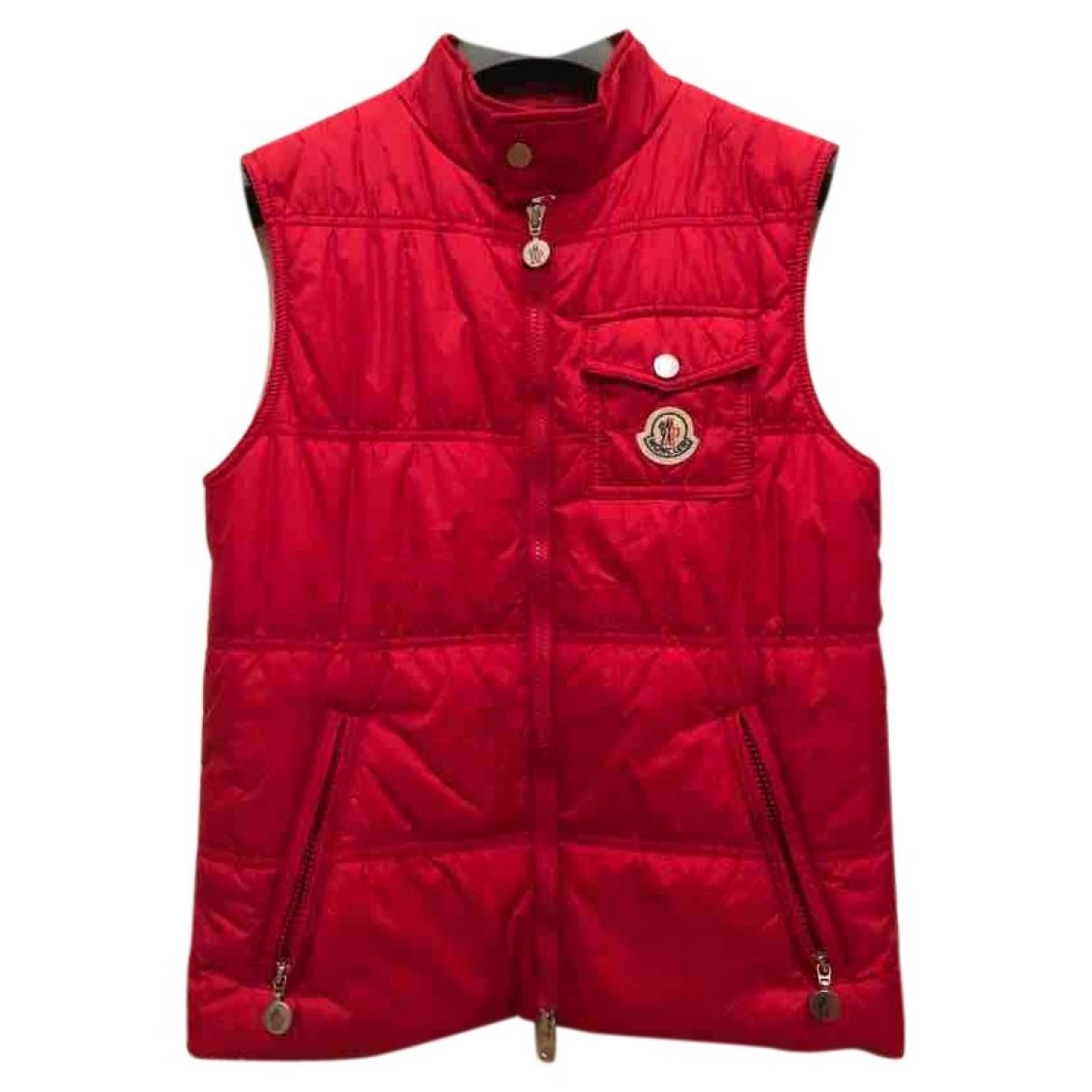 Moncler Sleeveless Jacke in  Rot Polyester