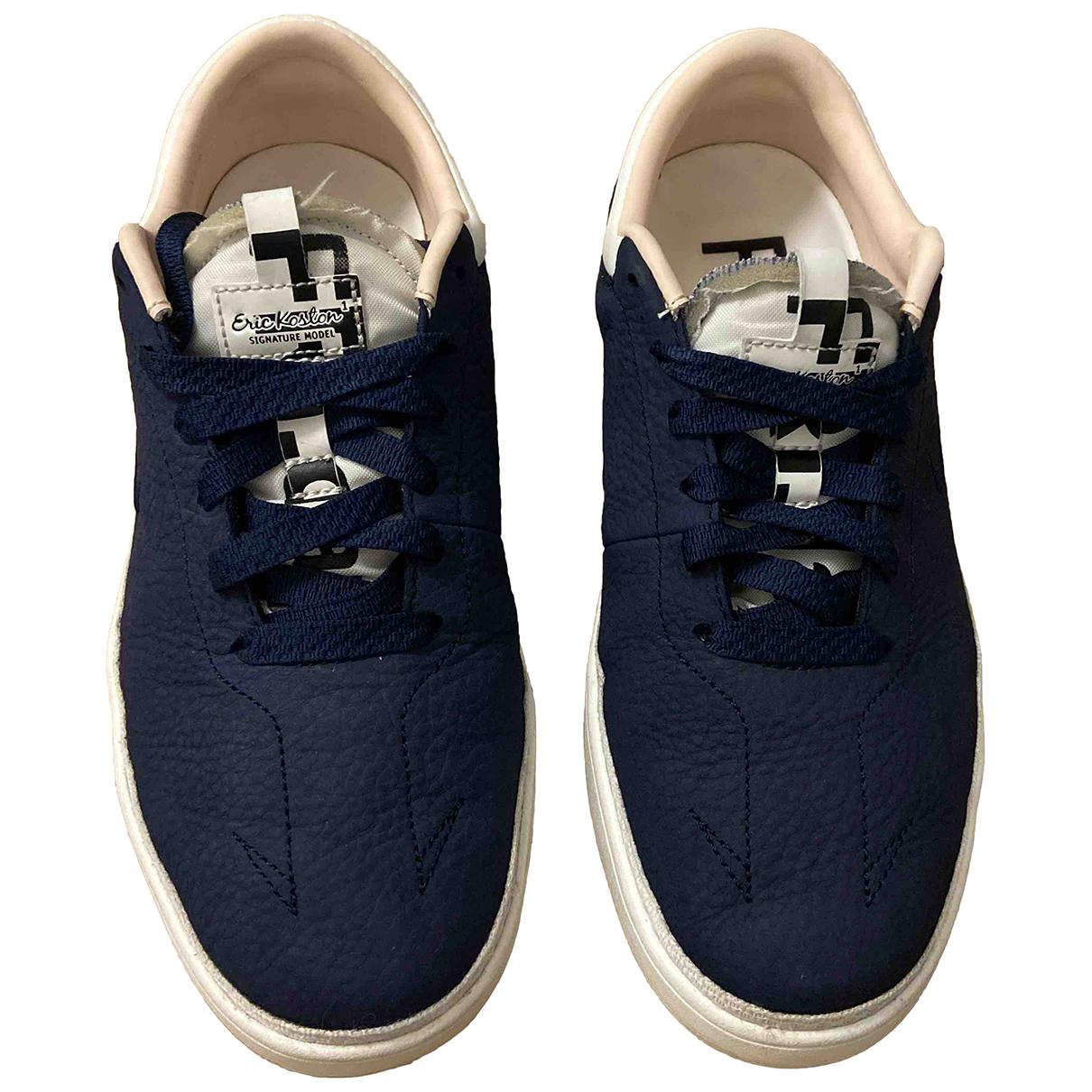 Soulland - Baskets   pour homme en cuir - bleu
