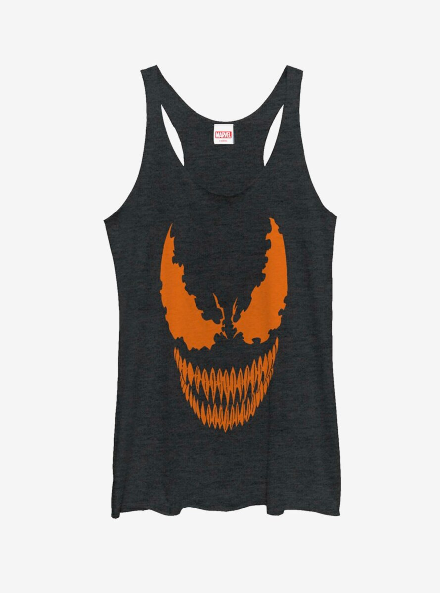 Marvel Venom Face Pumpkin Womens Tank Top