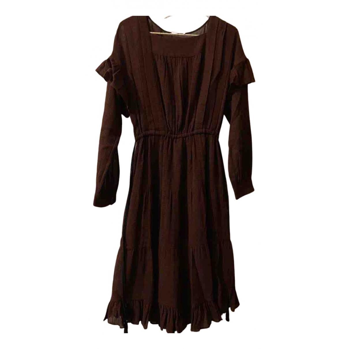 Masscob - Robe   pour femme en coton - bordeaux