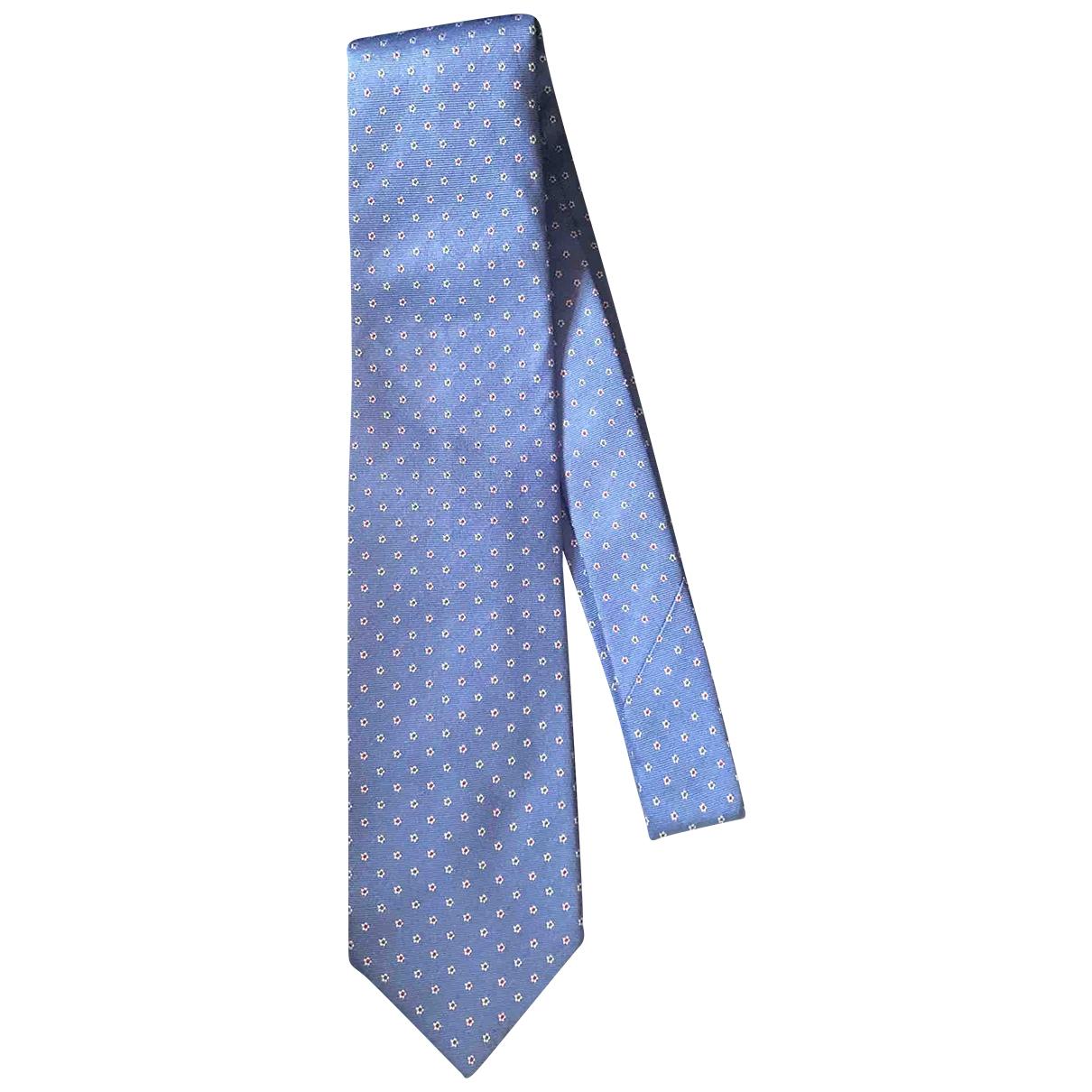 Bigi \N Krawatten in  Blau Seide