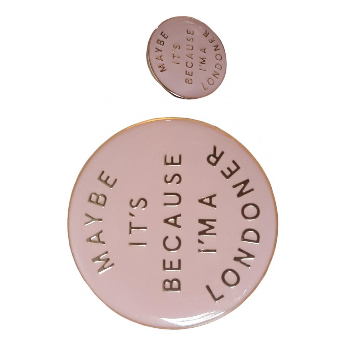 Burberry - Broche   pour femme en metal - rose