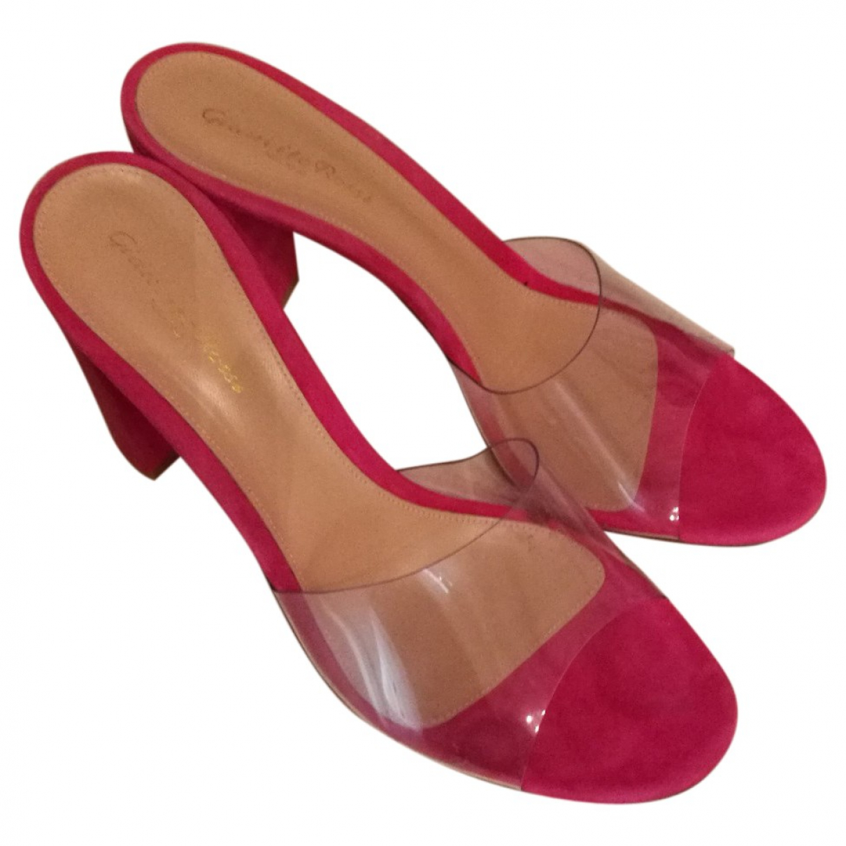 Gianvito Rossi - Sandales   pour femme en suede - rose