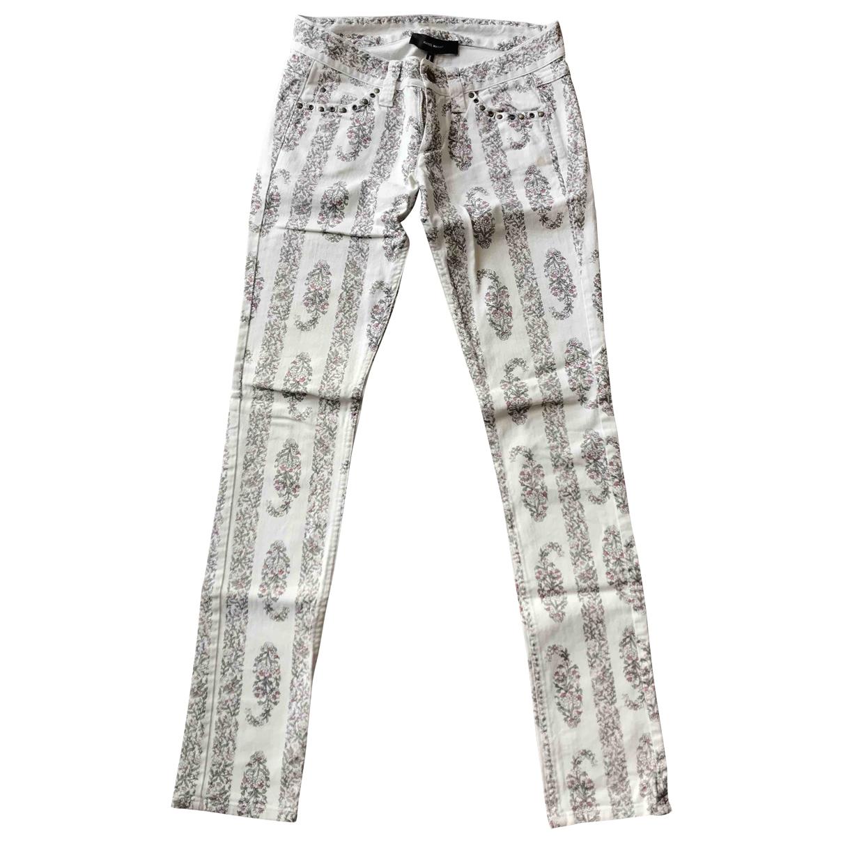 Pantalon en Denim - Vaquero Blanco Isabel Marant