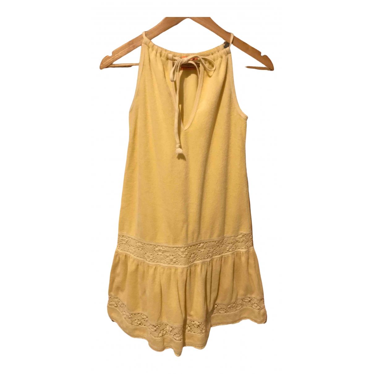 Juicy Couture \N Kleid in  Gelb Baumwolle