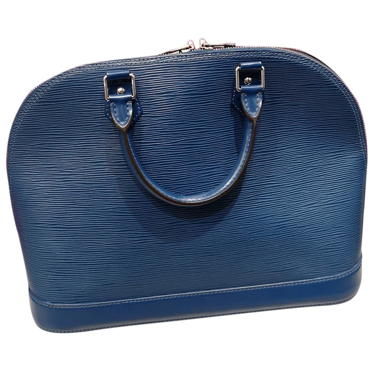 Louis Vuitton - Sac a main Alma pour femme en cuir - bleu