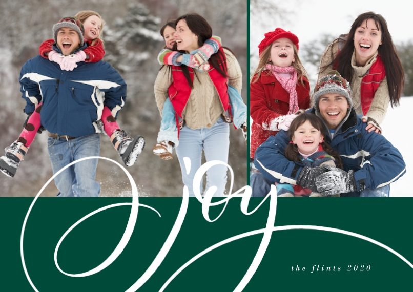 Christmas Photo Cards 5x7 Cards, Premium Cardstock 120lb with Rounded Corners, Card & Stationery -Script Joy