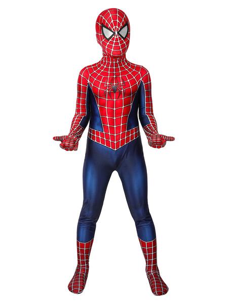 Milanoo Niños Marvel 2002 Movie Spider Man Tobey Maguire Mono Cosplay Disfraz
