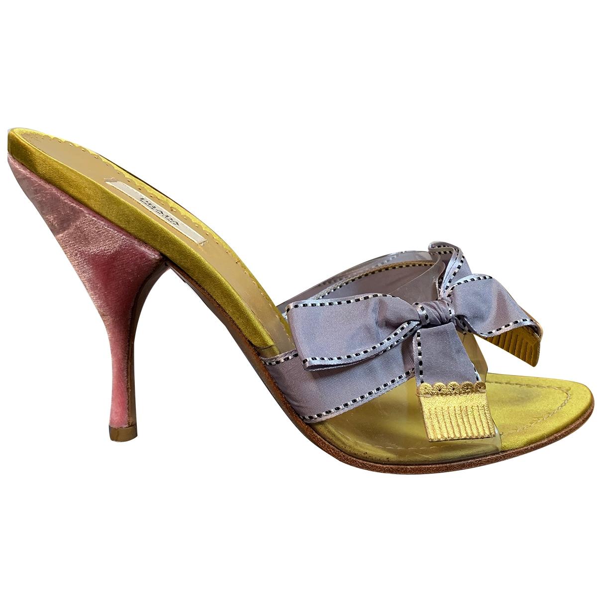 Prada \N Multicolour Velvet Sandals for Women 36.5 IT