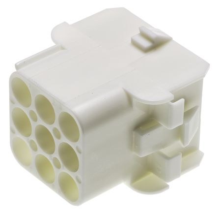 TE Connectivity , Universal MATE-N-LOK Female Connector Housing, 6.35mm Pitch, 9 Way, 3 Row (5)