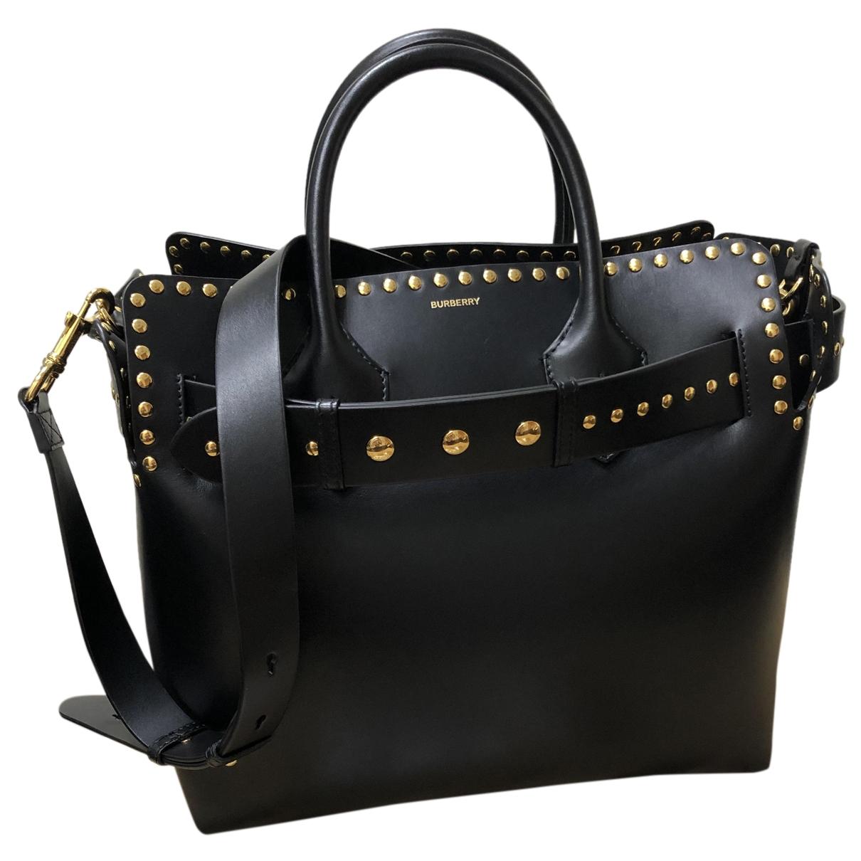 Burberry The Belt Handtasche in  Schwarz Leder