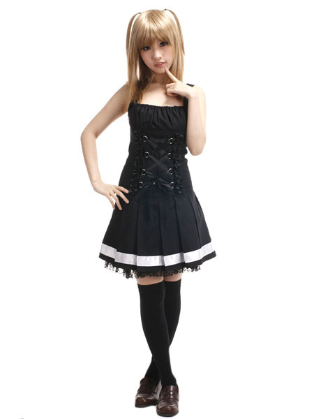 Milanoo Death Note Amane Misa Halloween cosplay costume Halloween