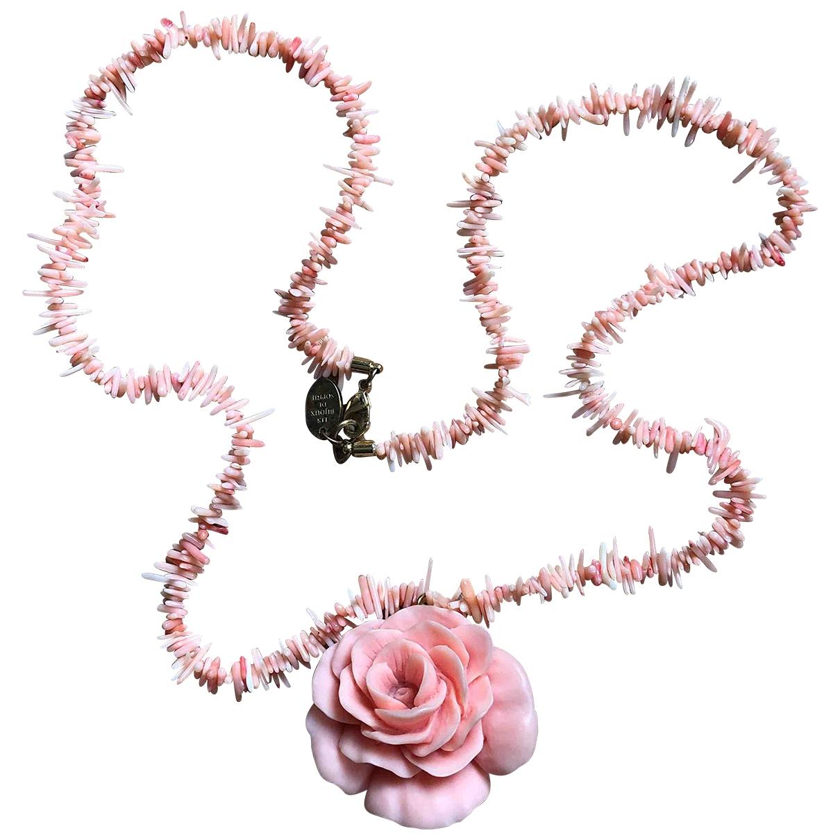 Manoush - Collier   pour femme en metal - rose