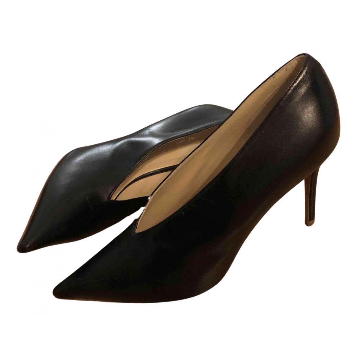 Celine - Escarpins Soft V Neck pour femme en cuir - noir