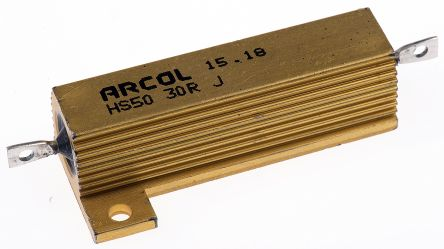 Arcol HS50 Series Aluminium Housed Axial Wire Wound Panel Mount Resistor, 30Ω ±5% 50W (20)