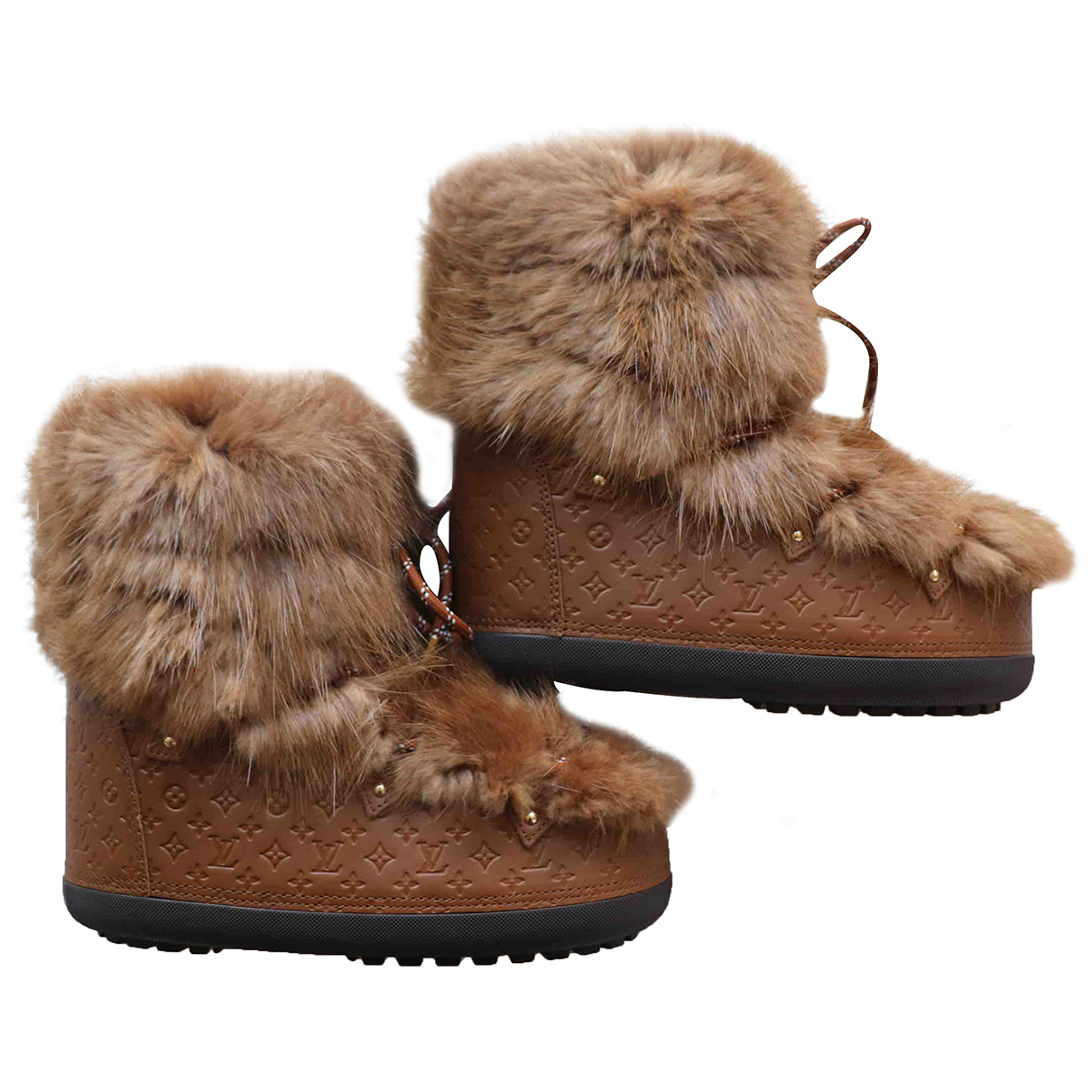 Louis Vuitton - Boots   pour femme en castor - camel