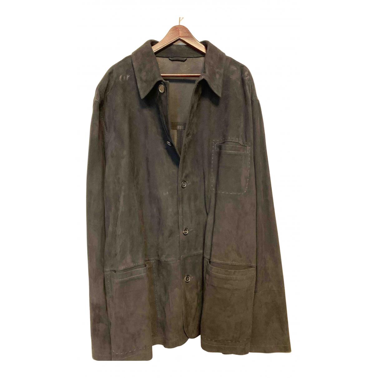 Lanvin - Chemises   pour homme en cuir - noir