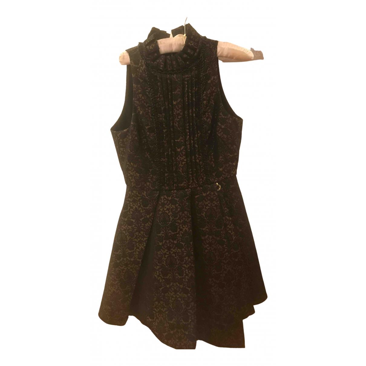 Mangano \N Kleid in  Braun Polyester