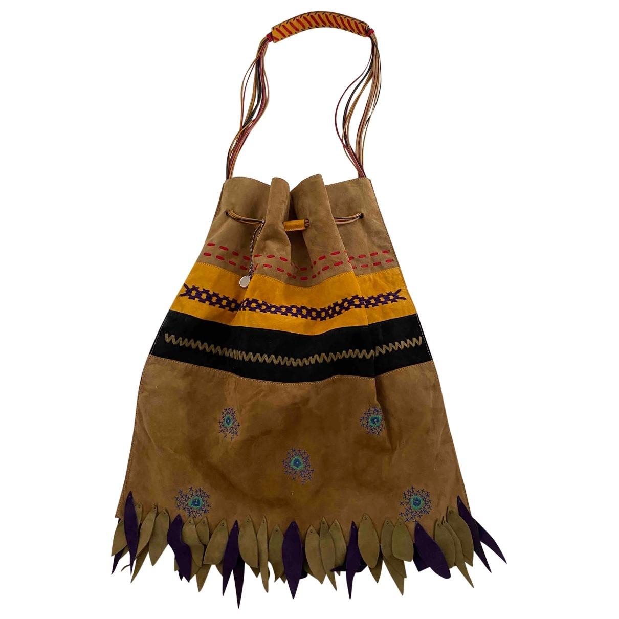 Trussardi \N Camel Suede handbag for Women \N