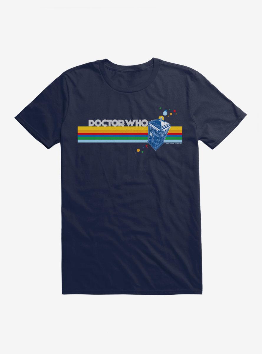 Doctor Who Thirteenth Doctor TARDIS Rainbow Stripe T-Shirt