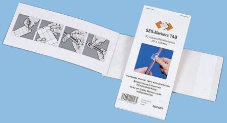 SES Sterling Adhesive Cable Marker Clear 8 → 63mm Dia. Range
