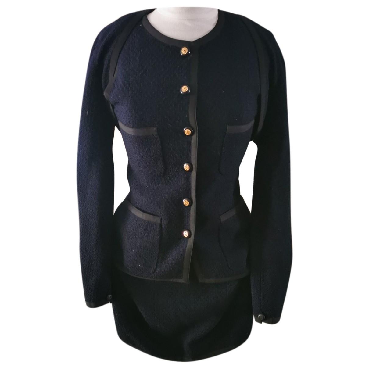 Chanel \N Navy Cotton skirt for Women 36 FR