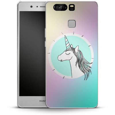 Huawei P9 Silikon Handyhuelle - Happiness Unicorn von caseable Designs