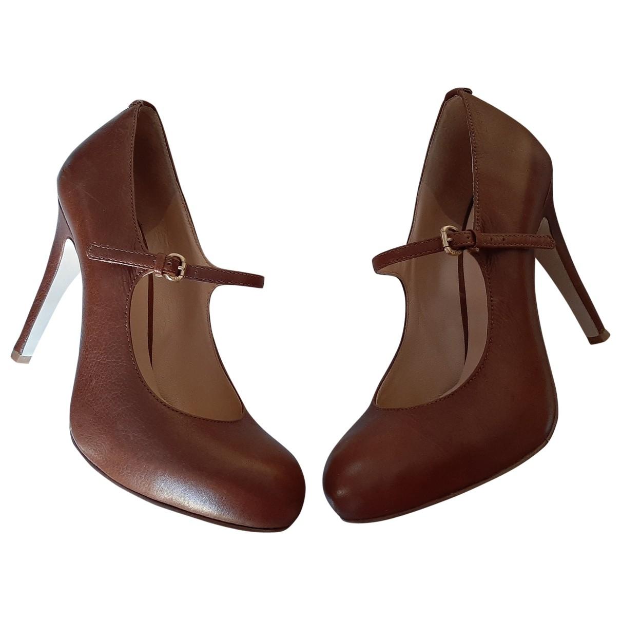 Guess \N Camel Leather Heels for Women 37 EU