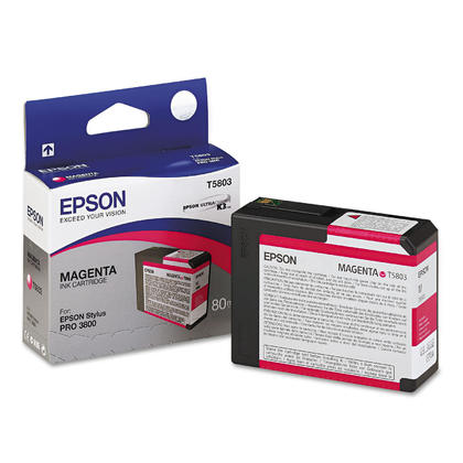 Epson T580300 Original UltraChrome Magenta Ink Cartridge for Stylus Pro 3800 Printer