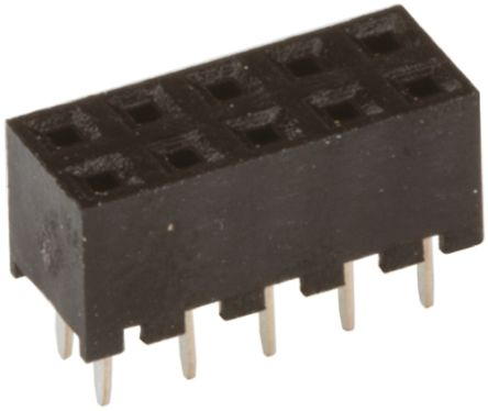Hirose , A3C 2mm Pitch 10 Way 2 Row Straight PCB Socket, Through Hole, Solder Termination (5)
