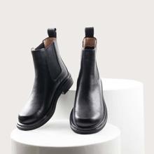 Chelsea Stiefel mit runder Zehenpartie