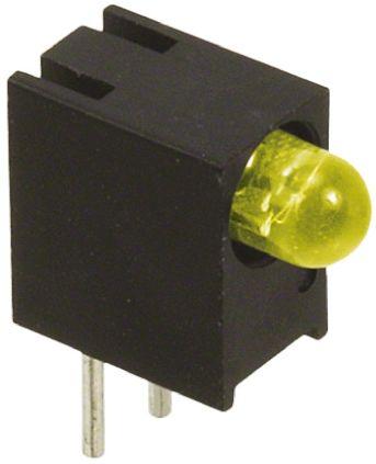 Dialight 551-0707F, Yellow Right Angle PCB LED Indicator, Through Hole 7.5 V