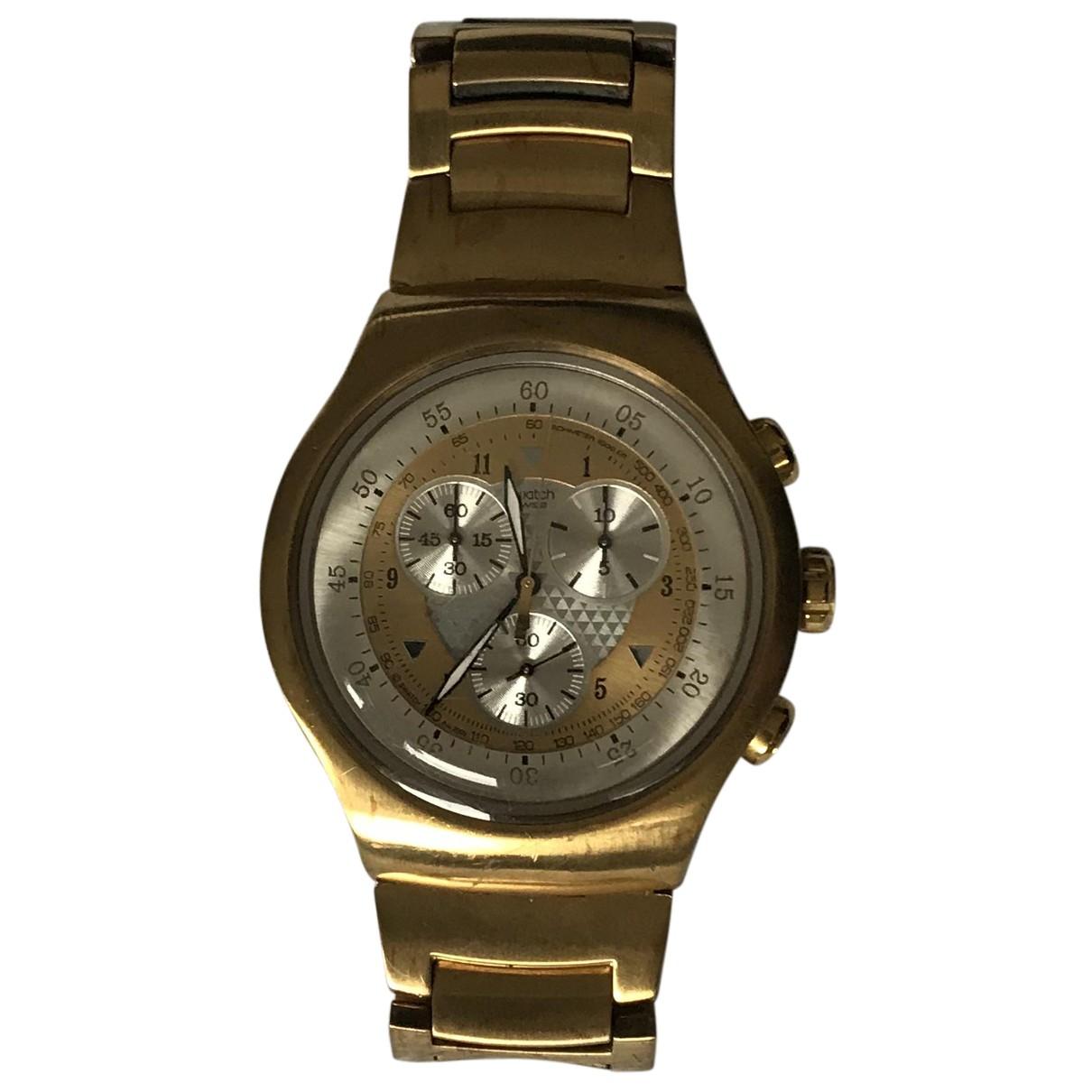 Swatch N Gold Steel watch for Men N