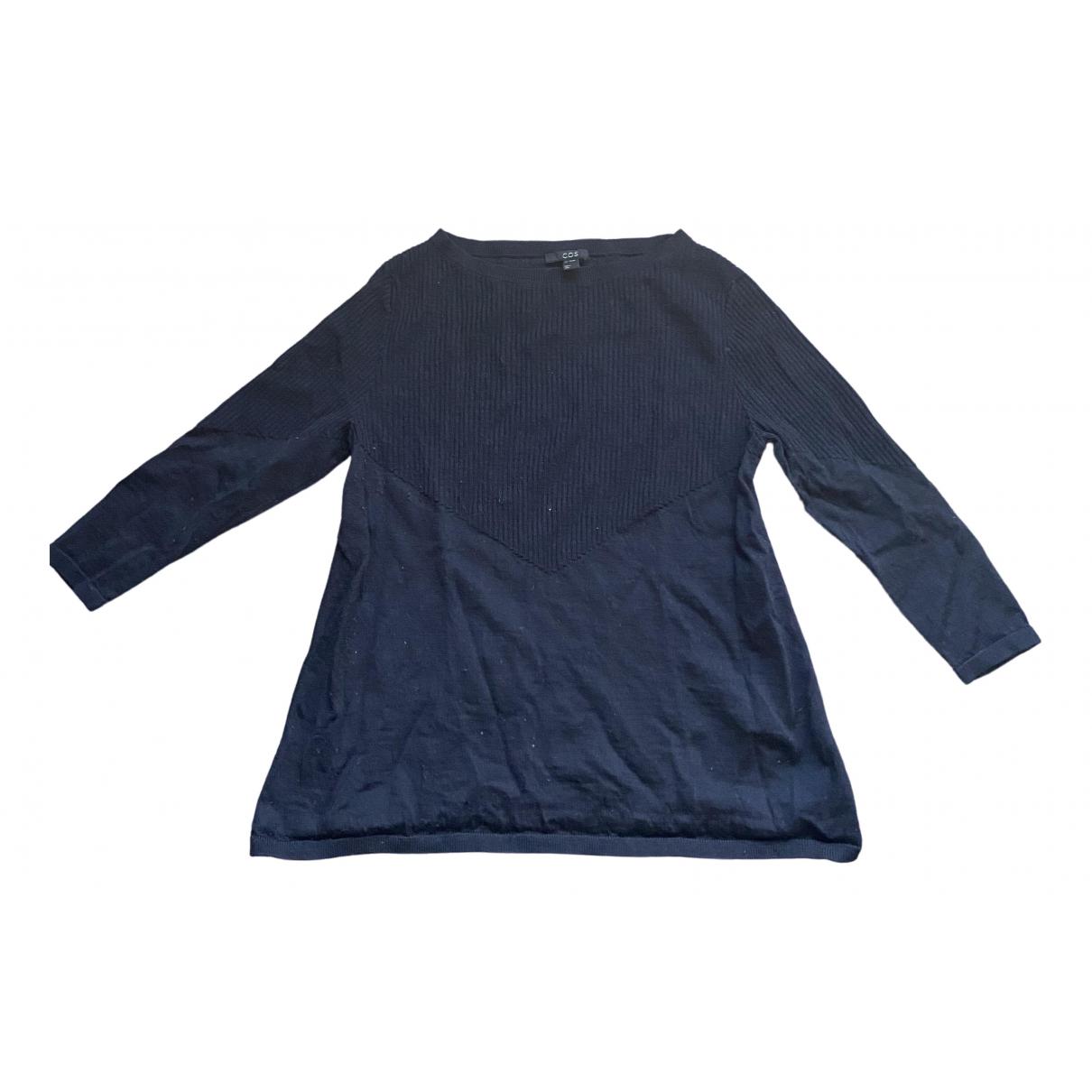 Cos - Pull   pour femme en laine - marine