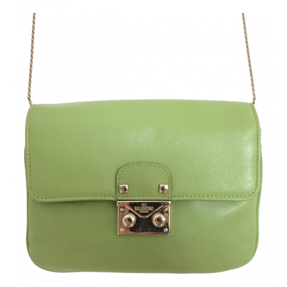 Valentino Garavani \N Green Leather handbag for Women \N